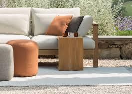 tribu c teak garden side table