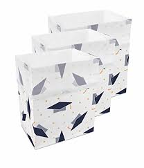 disposable trash cans. Clean Cubes 13 Gallon Disposable Trash Cans \u0026 Recycling Bins, 3 Pack (Graduation) S