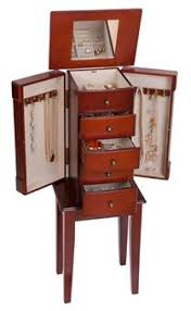 standing jewelry box. Wonderful Jewelry Classic Walnut Floor Standing Jewelry Box Armoire Inside Standing Jewelry Box