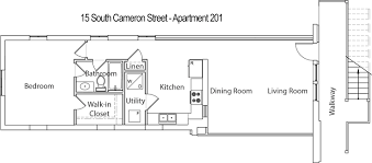 South Cameron Street Nd Floor Apartment  Rented - Rental apartment one bedroom apartment open floor plans