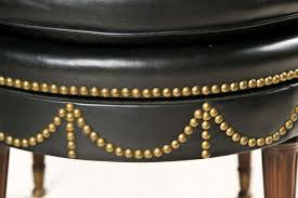 decorative nail heads for furniture. Black Leather Swivel Chair With Decorative Nailheads Fluted Legs Brass Feet. Nail Heads For Furniture