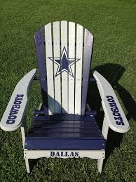 hand painted dallas cowboys folding adirondack chair nfl football tailgating want