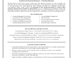 81 Restaurant Manager Resume Example Resume Objective For