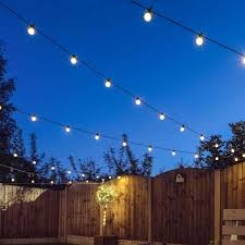 outdoor festoon lights connectable warm white leds clear bulbs black cable