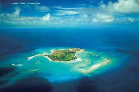 private island in the Caribbean ...