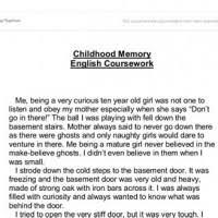 Childhood Essays Essays On My Favorite Childhood Memory Mistyhamel