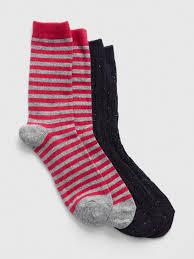 Gap Pattern Crew Socks 2 Pack In Blue Lyst