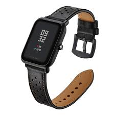 20mm leather strap band for xiaomi amazfit huami bip youth genuine leather watch strap bracelet malaysia