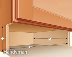 Cabinet Kick Plate How To Build A Toe Kick For Kitchen Cabinets