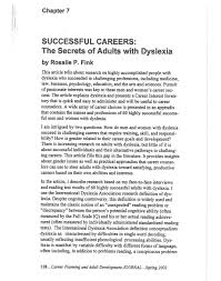 successful careers the secrets of adults dyslexia rosalie fink successful careers the secrets of adults dyslexia