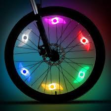 Lights On Wheels Of A Bicycle Amazon Com Aieason 6pcs Bicycle Willow Spoke Lights Bike