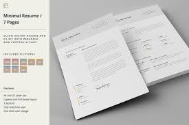 Resume With Cover Letter Resume Cover Letter Template Resume Templates Creative Market 54
