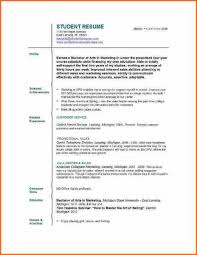 Sample Resume With No Work Experience College Student Resume And