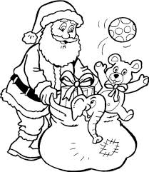 Santa Claus And Presents Printable Coloring Pages Christmas Some