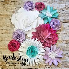 Paper Flower Designs Lavender Pink Teal White Paper Flower Set