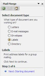 Word Mail Merge Create Mailing Labels In Word 2003 With Mail Merge