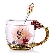 NBHUZEHUA Glass Coffee Cups Tea Mugs 2019 ... - Amazon.com