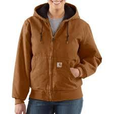 Carhartt Women's Sandstone Active Jac/Quilted Flannel Lined WJ130 & ... Jac/Quilted Flannel Lined. Carhartt Brown Adamdwight.com