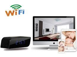 wifi ip alarm clock wide angle ir night visio
