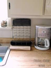 Space Saving Dish Rack Frugal Foodie Mama Saving Counter Space Money With Rubbermaid