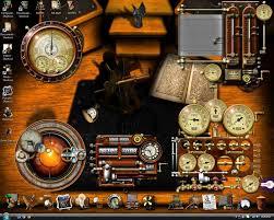 my steampunk desktop by generaldurandal