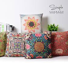 oriental throw pillows. Delighful Pillows Chinese Style Cushion Cover Home Decor Flower Decorative Pillows Case Oriental  Throw Linen Cotton Cushions For Sofain From  Throughout AliExpress