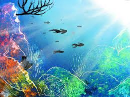 underwater spray paint art
