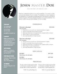 Resume Template Free Download 2017 Template Free Download