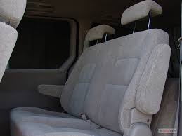 2005 kia sedona 4 door auto lx rear seats