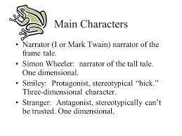 main characters narrator i or mark twain narrator of the frame tale