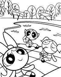 Powerpuff Girls Christmas Coloring Pages Powerpuff Girl Coloring