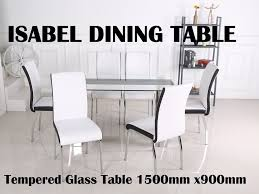 furniture place isabel glass dining table with clear tempered