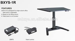 one leg commercial furniture general use and pc desk style motorized adjule height table legs