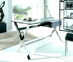 office glass desk white modern computer table elegant alluring in and top with drawers picture of led glass desk