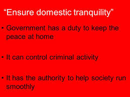 Ensure Domestic Tranquility The Preamble The Preamble Establishes Goals For The New Government