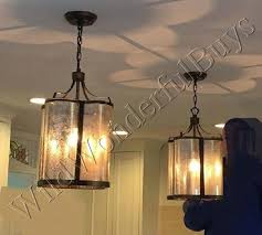 details about scalloped mercury glass pendant antique bronze kitchen island light chandelier
