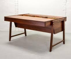 Teak Wood Table Designs Scandinavian Design Teak Wood Desk By Clausen Maerus For Eden 1960s