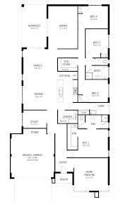 floor plan of a one story house. 6 Bedroom House Plans 2 Story Floor One Plan Of A