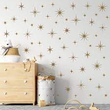 sparkle wall decals gold star decals