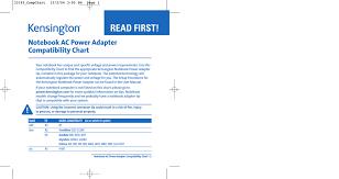 Notebook Ac Power Adapter Compatibility Chart Manualzz Com