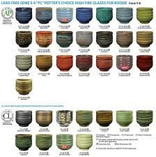 Glaze Color Chart Amaco Potters Choice Glazes
