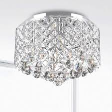 nerisa chrome crystal flush mount chandelier free today with regard to flush mount