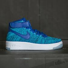 nike shoes air force blue. w nike air force 1 flyknit blue lagoon/ deep royal at a great price shoes c