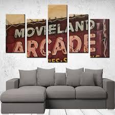 <b>5 Panels Canvas</b> Prints Wall Art for Wall Decorations - Movie Arcade