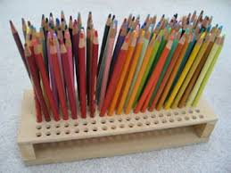 Colored pencil storage --> For the most popular coloring books and supplies  including colored pencils, watercolors, gel pens and drawing markers, p