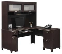 image of office desk l shaped with hutch