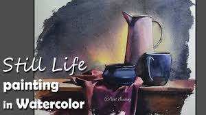 painting a realistic still life in watercolor step by step