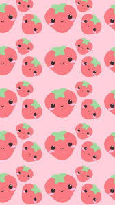 cute strawberry wallpaper. Interesting Cute Cute Wallpaper Strawberry Cute Kawaii Japan Illustration Repeat Pattern  Digi Art Print With Strawberry Wallpaper