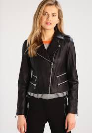 michael michael kors leather jacket black women retailer