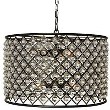 cassiel black drum crystal chandelier